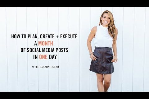 How to Plan, Create + Execute a MONTH of Social Media Posts in ONE Day