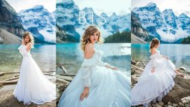 Natural Light Photoshoot at the Mountain Lake, Behind the Scenes