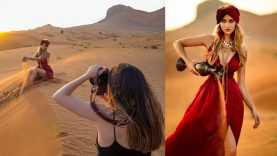 Natural Light Photoshoot in Dubai Desert – BTS